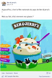 On fond... pour les glaces Ben & Jerry's !
