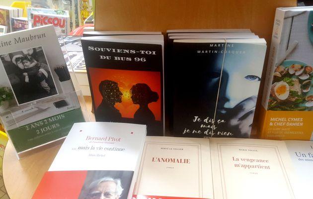 """Mon second roman """"Souviens toi du bus 96"""" en librairie aux Sables d'Olonne"""