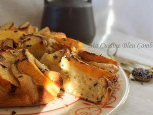 Gâteau Brioché aux Pêches et à la Lavande