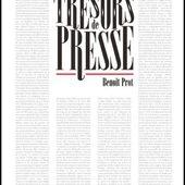 Trésors de presse : un livre de Benoît Prot