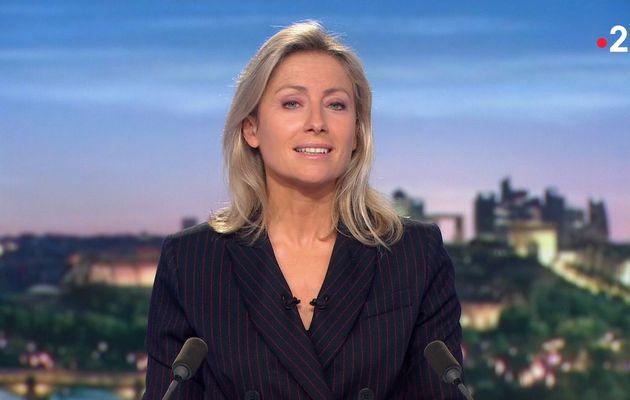 Anne-Sophie Lapix, sa veste double boutonnages utra chic