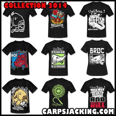 Sweat-shirts, tee-shirts pêcheurs, carpistes...