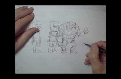 Tuto de dessin : Morphologie Homme - Femme, orc, et étude de mains.