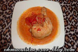 Mafé de poulet à la mijoteuse