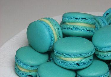 Macarons bleu!!!