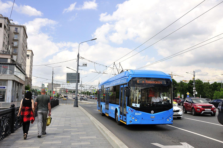 Le trolleybus bleu à Moscou