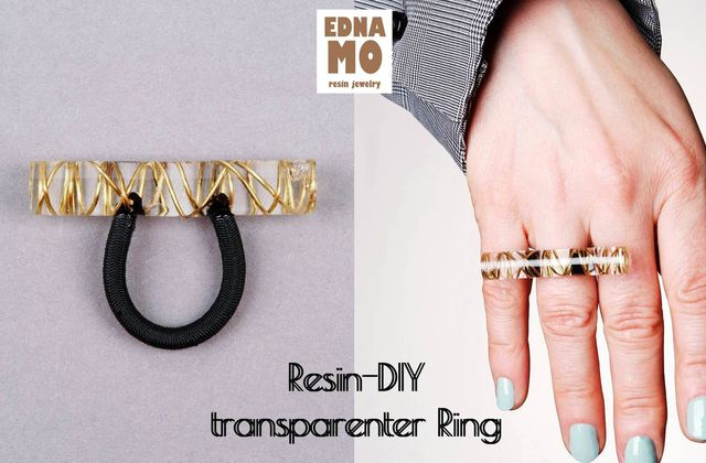 Resin-DIY transparenter Ring