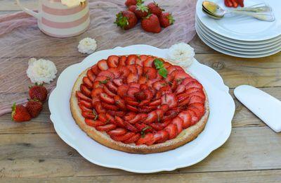 Tarte fine fraises / basilic