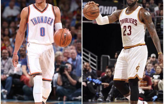 LeBron James et Russell Westbrook élus joueurs de la semaine