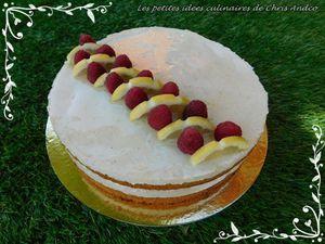 Gâteau au citron et aux framboises