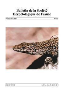 Article scientifique sur les Amphibiens de la Guadeloupe