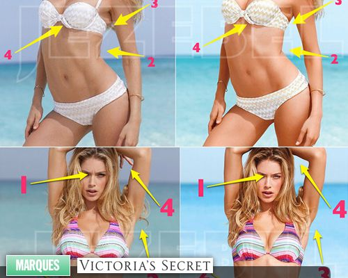 Les retouches du catalogue Victoria's Secret !