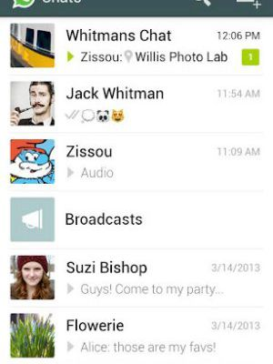 The best Android message app: Whatsapp