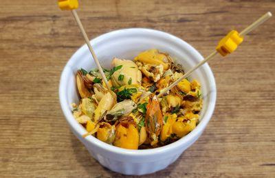 Moules marinées au citron et basilic pour l'apéritif