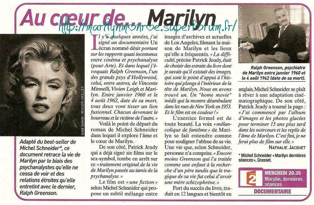 Au coeur de ... Marilyn