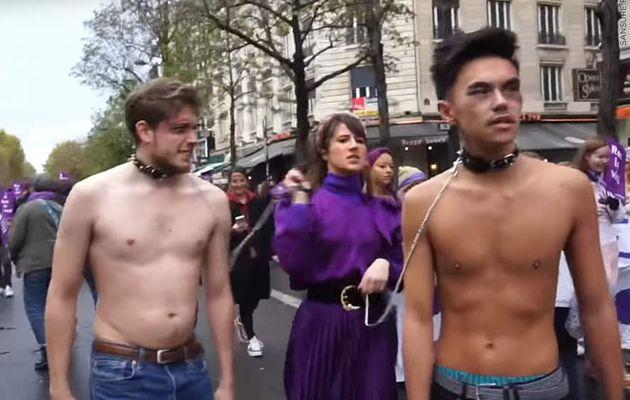 Marie S'Infiltre choque avec son sketch à la marche contre les violences aux femmes ! (Vidéo) #NousToutes