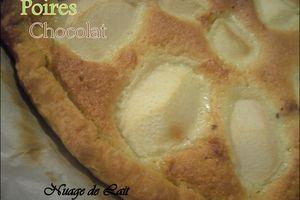 Tarte Poire/Chocolat Frangipane