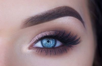 Easy overview to make-up your eyes with false eyelashes