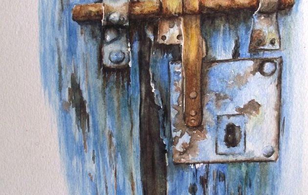 """Nouvelle aquarelle: """"Porte close"""""""