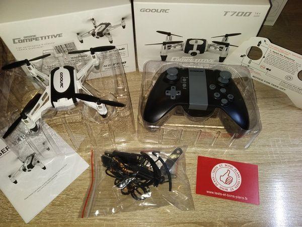 unboxing drone GoolRC T700 Mini RC Quadcopter avec caméra HD 720p @ Tests et Bons Plans