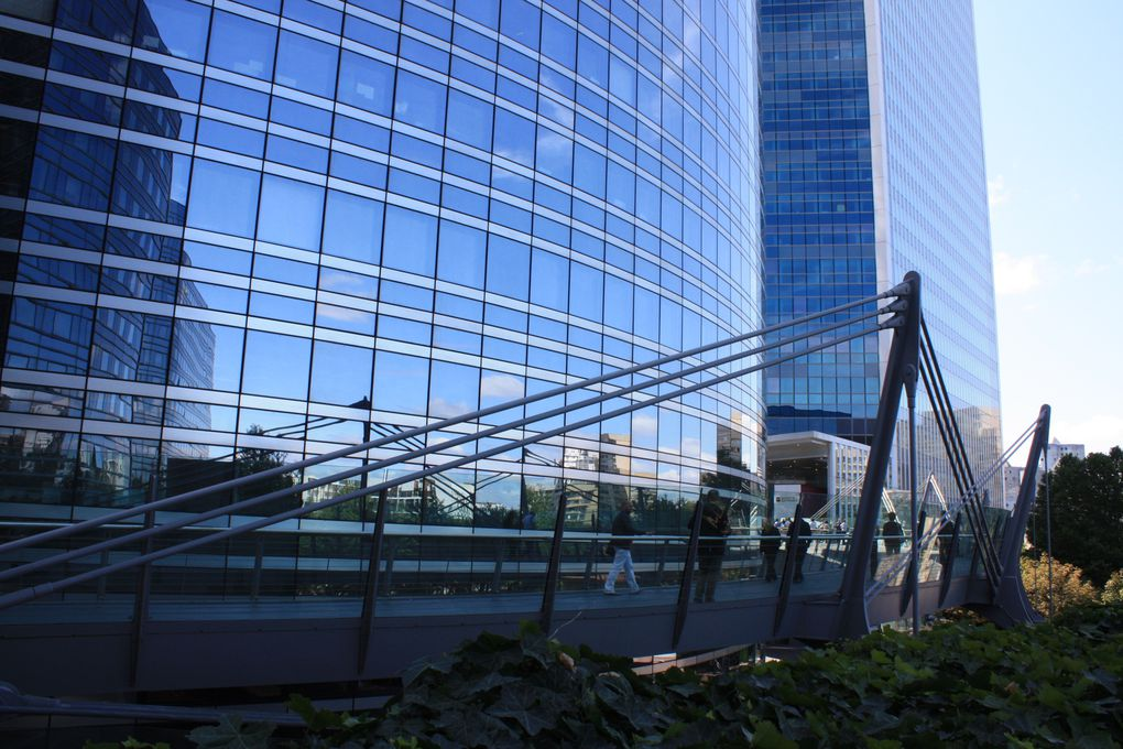 Tours Société Générale - Alicante, Chassagne et Granite Passerelle Valmy, Paris La Défense Photos: Emmanuel CRIVAT 2011