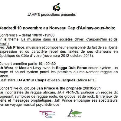 JAH PRINCE & the prophets + Ragga Dub Force sound system @ Nouveau Cap, le 10/11/17