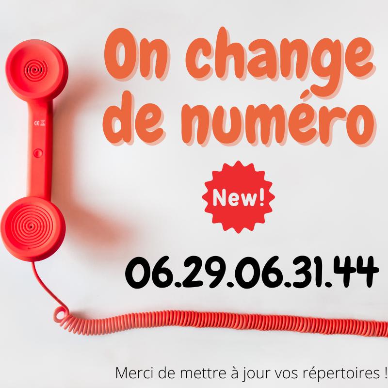 Numéro de téléphone mis à jour !