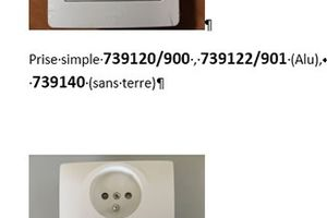 rappel de prises électriques DIAM 2 de marque DEBFLEX