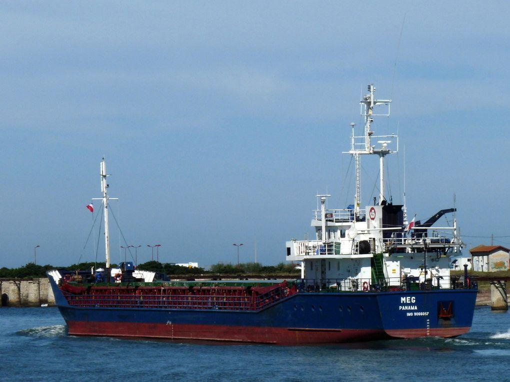 MEG , Dans le port de Bayonne , le 06 septembre 2009