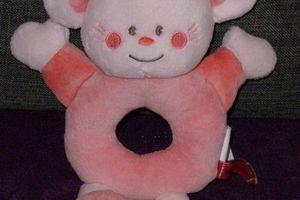 doudou souris rose hochet kimbaloo la halle