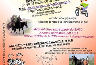 Rando aux Trois-Moutiers (86 - limite 79) dimanche 17 mai 2015