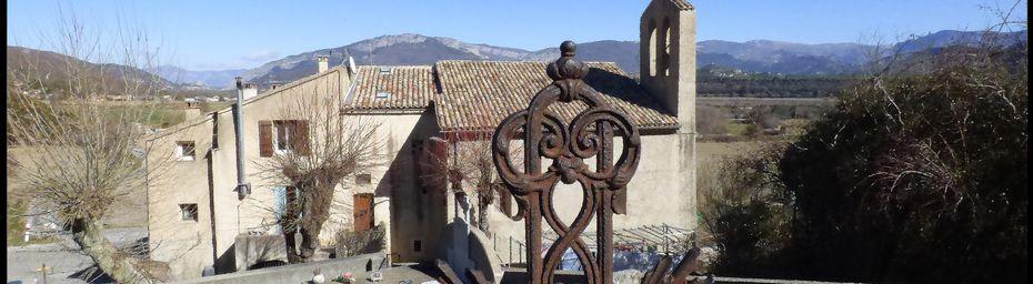 de AUBIGNOSC  à  l'EGLISE St DONAT via Chateau-Neuf-Val-St-DONAT par le GR 653 D ( chemin d'Arles )