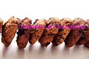 Cookies Chocolat, Cranberries, Grué de Cacao