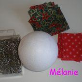 tuto : boule de noel en tissu - Le blog de chezmel