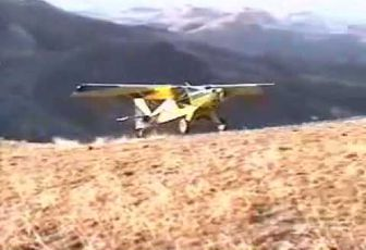 STOL Airplane Mountain Takeoff and Landing