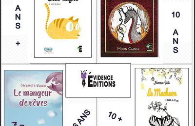 *LE RÊVE DE CHAT TAIGNE, Colline Hoarau*FAIRY VALLEY, t1: Le dragon d'or, Moon Calista* LE MANGEUR DE RÊVES, Cassandra Bouclé* LE MACHAON, Francesca Isola* Évidence Éditions* par Lynda Massicotte*