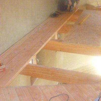 le plancher de l'étage