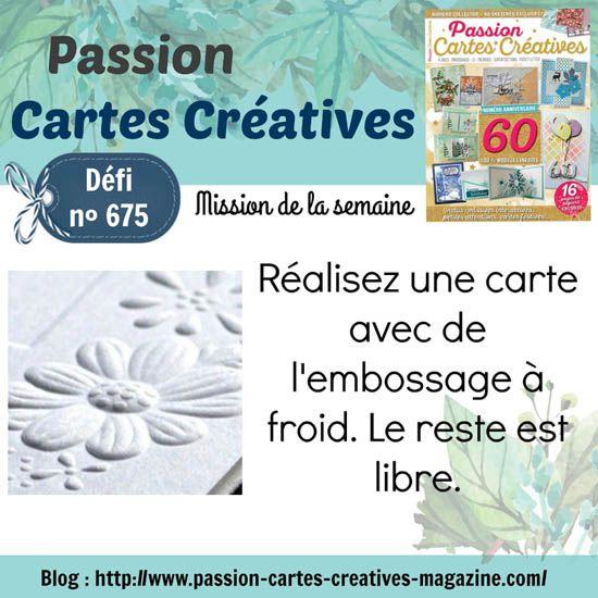 DÉFI PASSION CARTES CRÉATIVES - 31/1/21