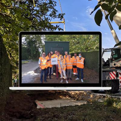 Fibre optique : pose du 21ème NRO dans le Tarn-et-Garonne à Parisot