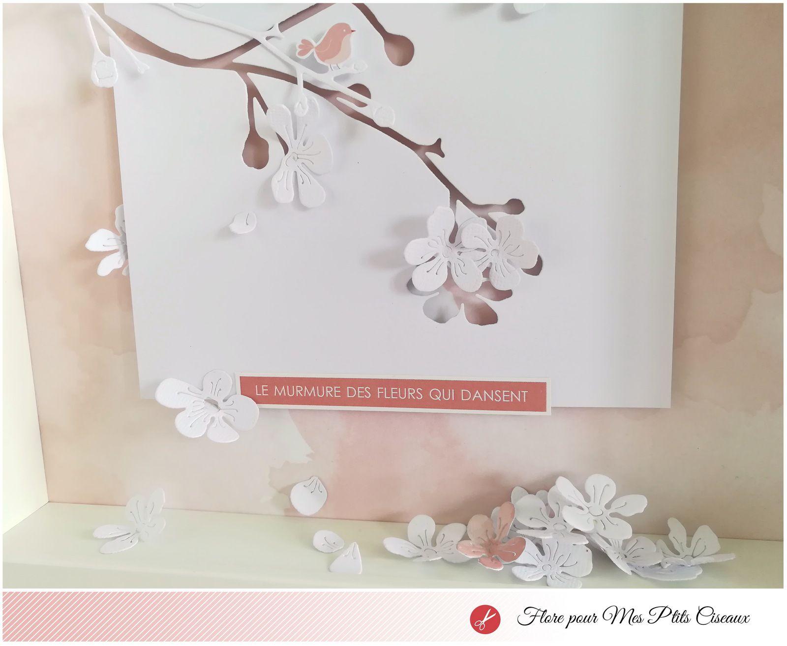 """Cadre """"Fleurs qui dansent"""" par Flore"""