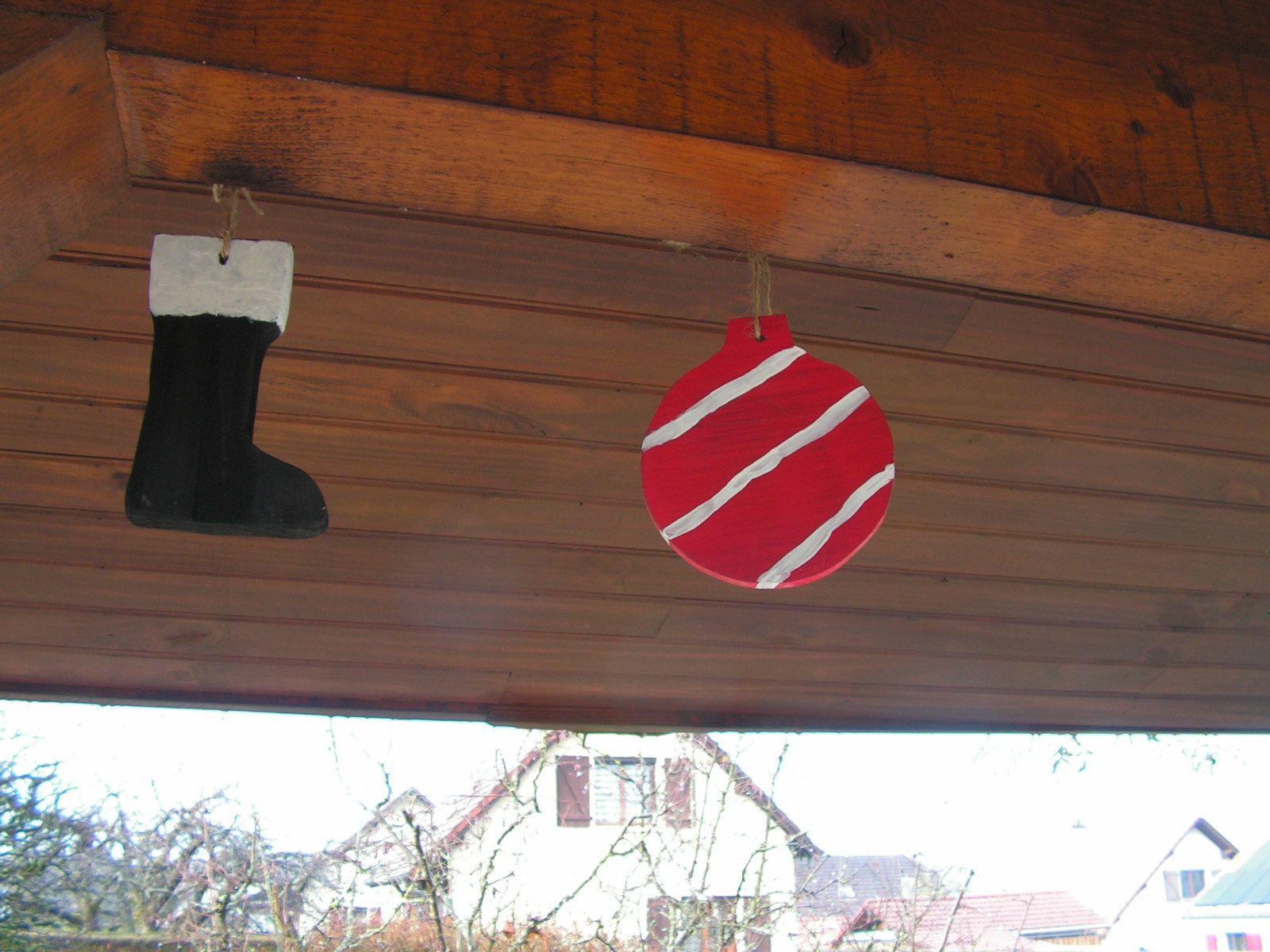 Décorations de Noël en bois pour l'extérieur