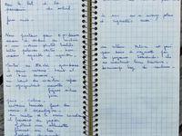 Carte de la Grèce  : Épidaure encadré le plus au Sud - Notes des 21 et 22 Août 1970 dans le carnet de bord de Anne-Marie  - Aucune note pour la journée du 23 Août.