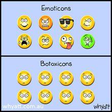 Emoticons vs Botoxicons
