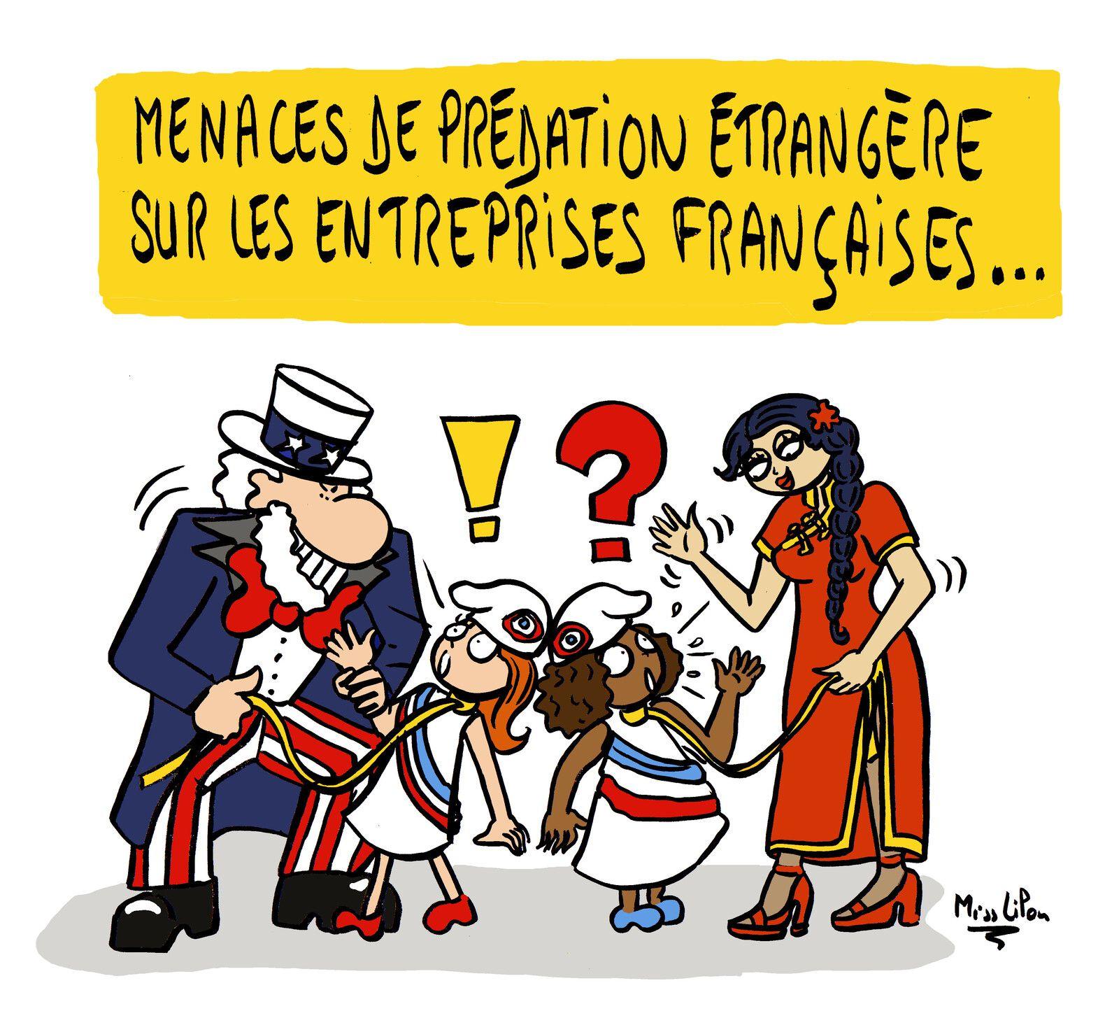 """""""Menaces de prédation étrangère sur les entreprises françaises"""""""