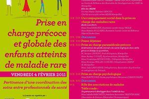 Prise en charge précoce et globale des enfants atteints de maladie rare - 4 février 2011