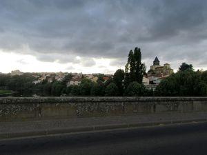 Ciel chaotique en arrivant sur Clermont Ferrand