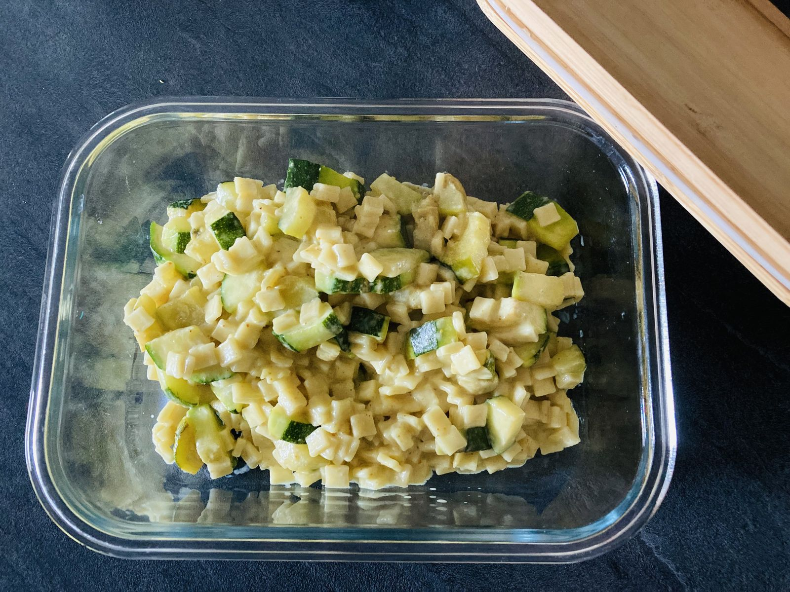 Crozets courgettes curry