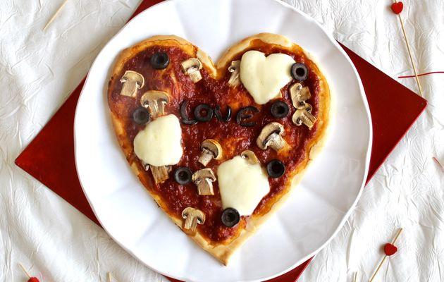 Pizza cœur pour la Saint Valentin