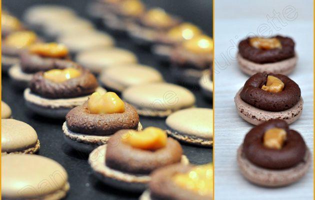 Macaron double saveur : chocolat et confiture de lait