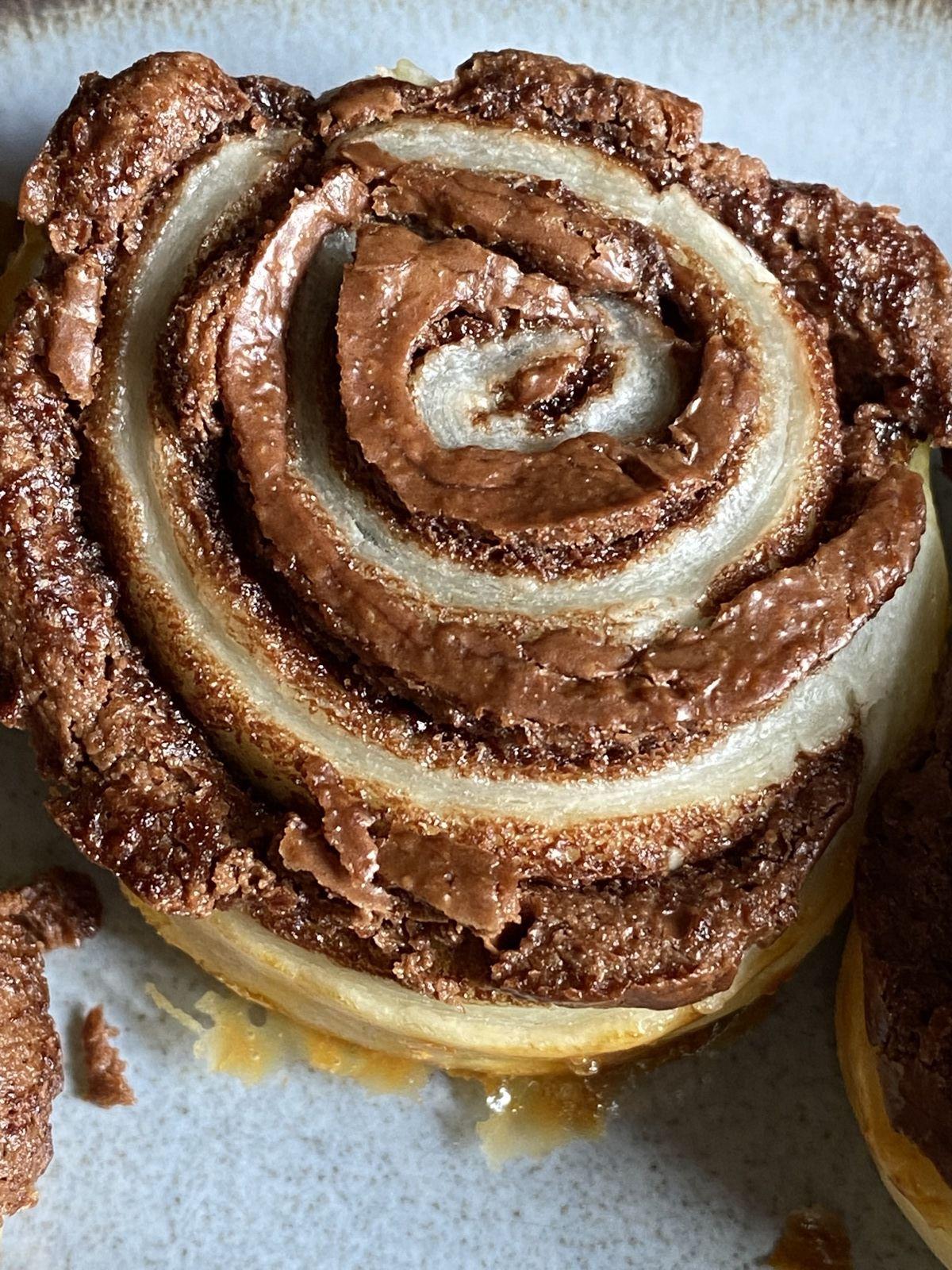 Spirales feuilletées au chocolat